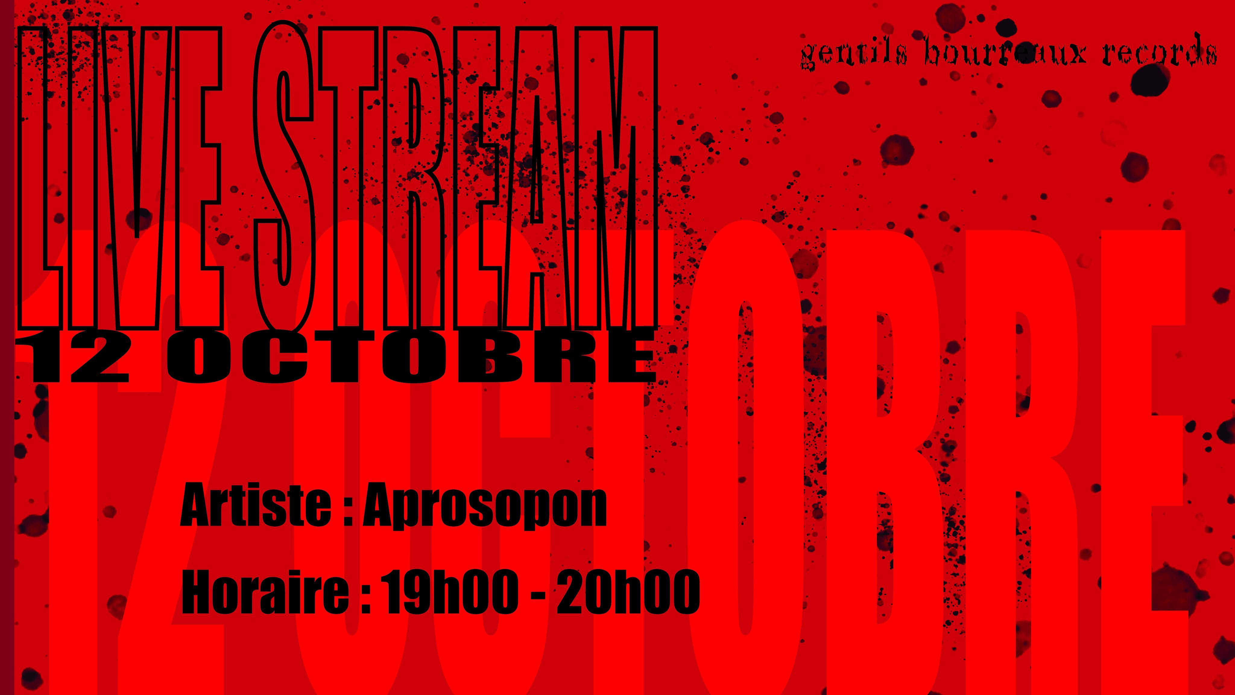 Gentils Bourreaux Records invite : Aprosôpon | Nantes 🇫🇷