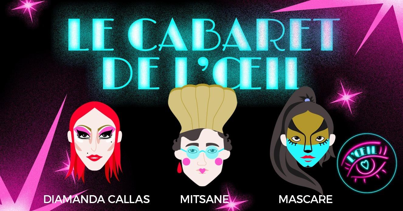 Le Cabaret de l'Oeil t'électrise avec Diamanda Callas, Mascare et Mitsane