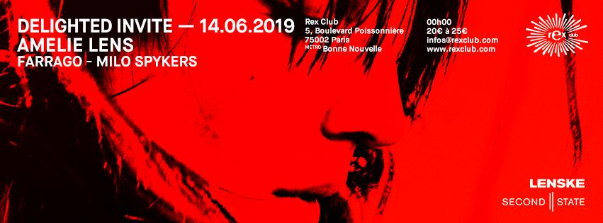 Delighted Invite: Amelie Lens, Farrago, Milo Spykers