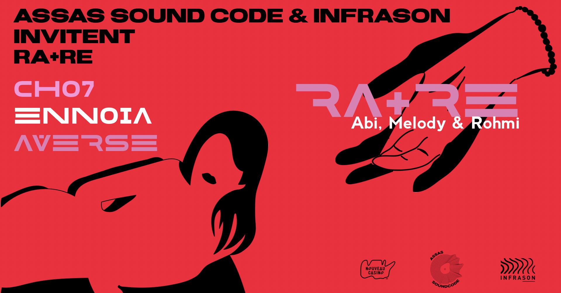 Assas Sound Code & Infrason invitent : RA+RE au Nouveau Casino