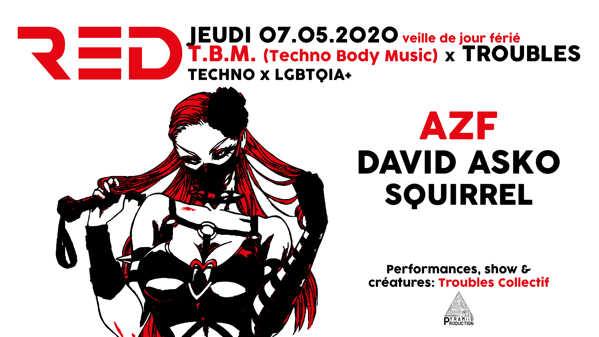 AZF at RED CLUB (TOURS) Techno Acid Rave Indus