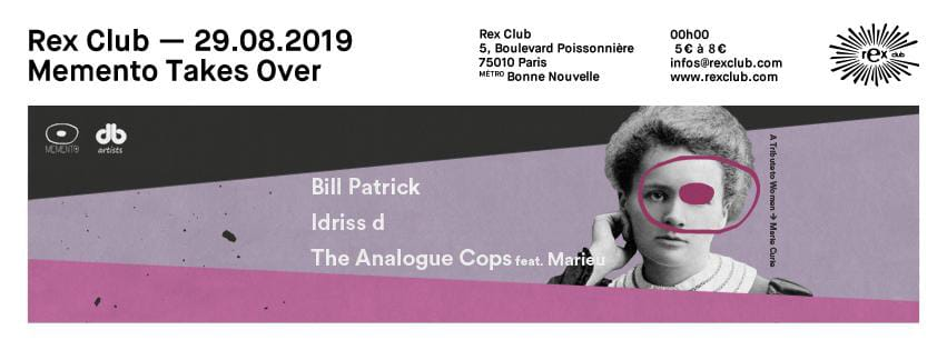 Memento Takes Over: Bill Patrick, Idriss D, The Analogue Cops Fea