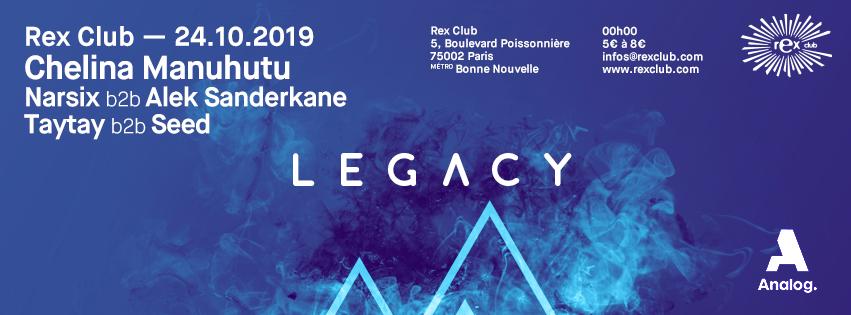 Legacy: Chelina Manuhutu, Narsix b2b Alek Sanderkane & more