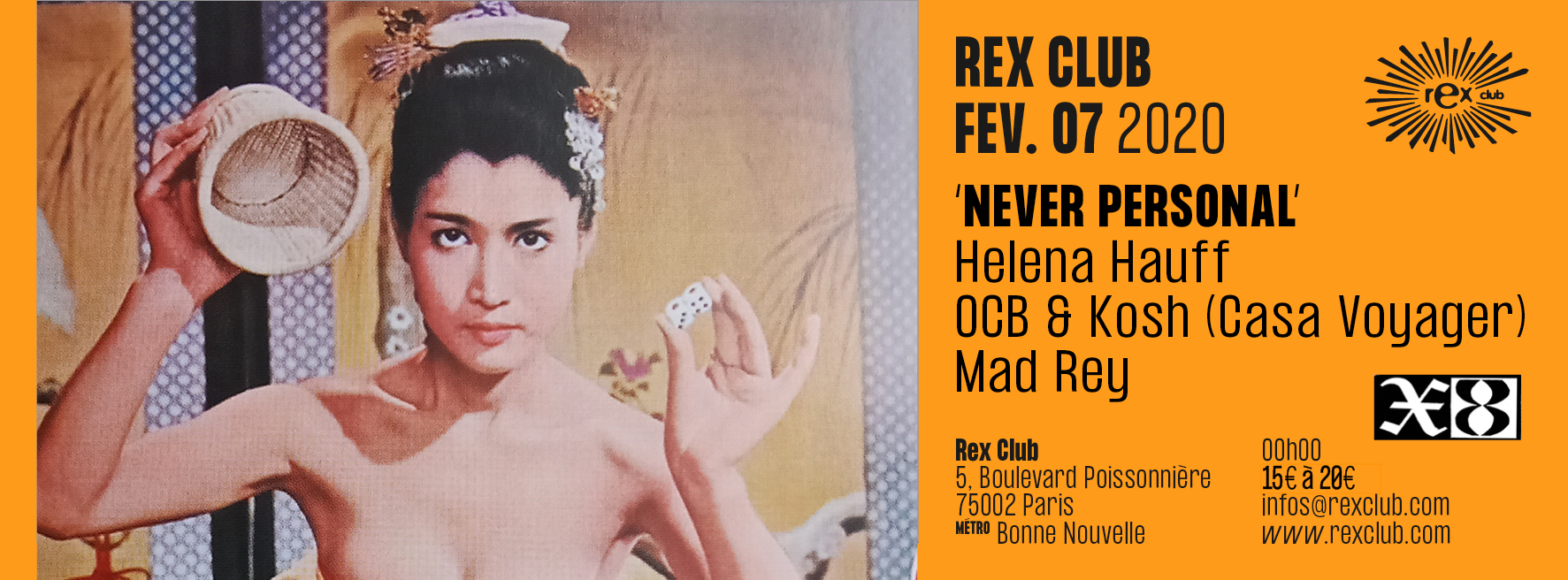 Mad Rey - Never Personal: Helena Hauff, OCB & Kosh (Casa Voyager