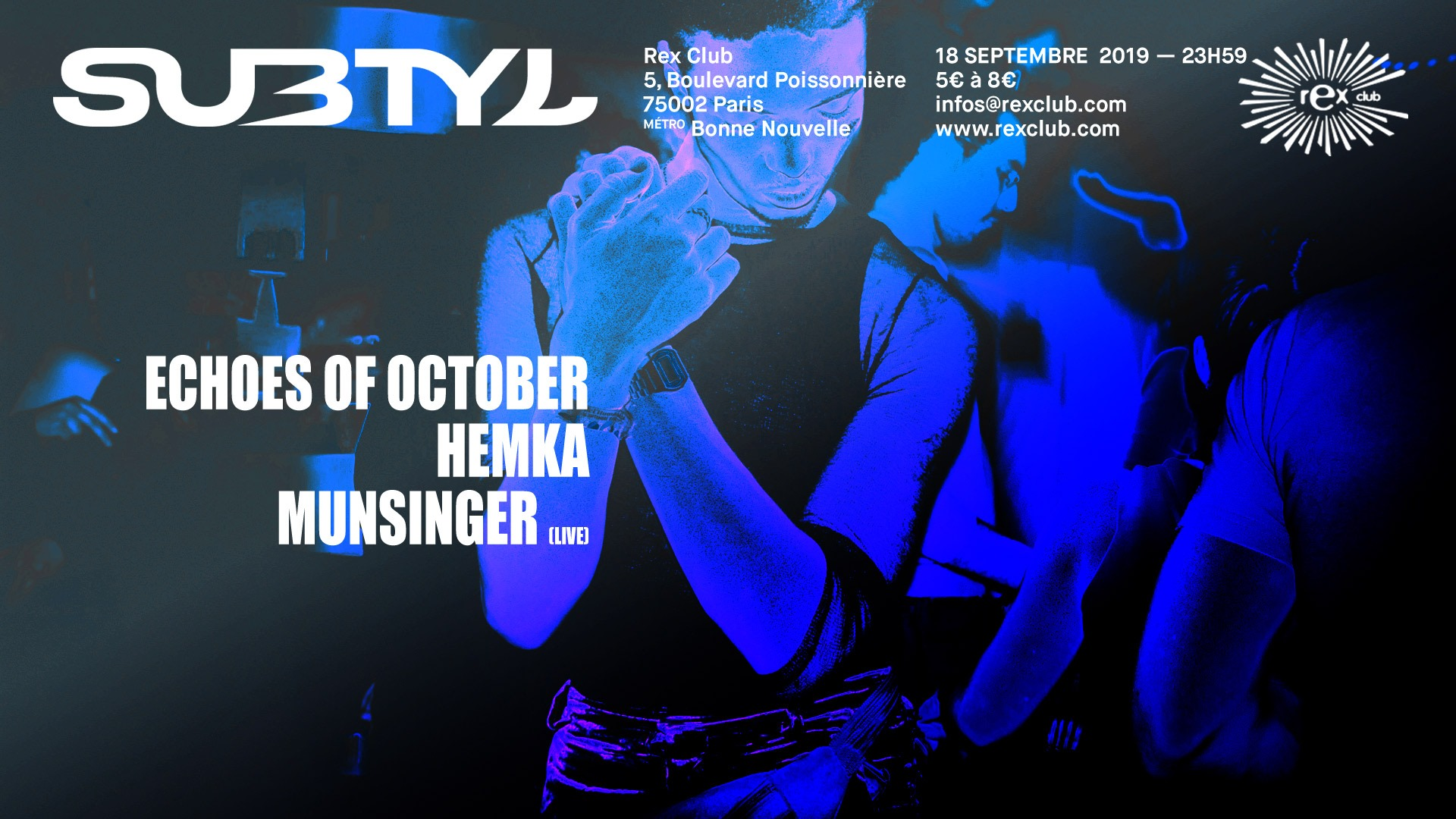 Subtyl x Rex Club : Echoes Of October, Hemka, Munsinger