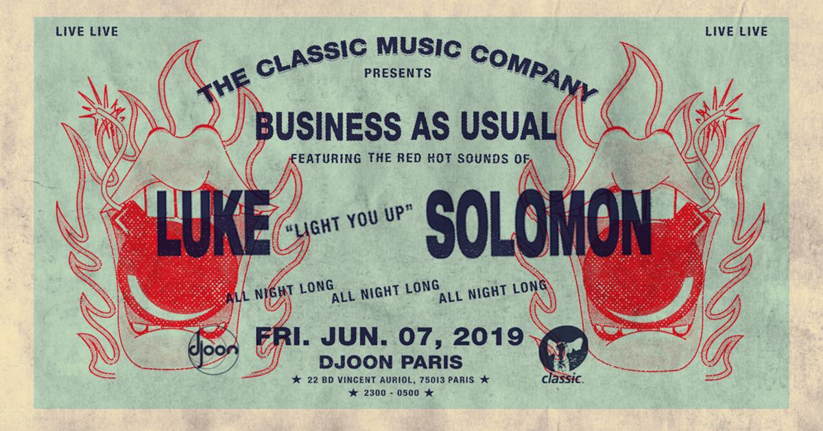 Classic Music Co: Luke Solomon (all night long) @ Djoon