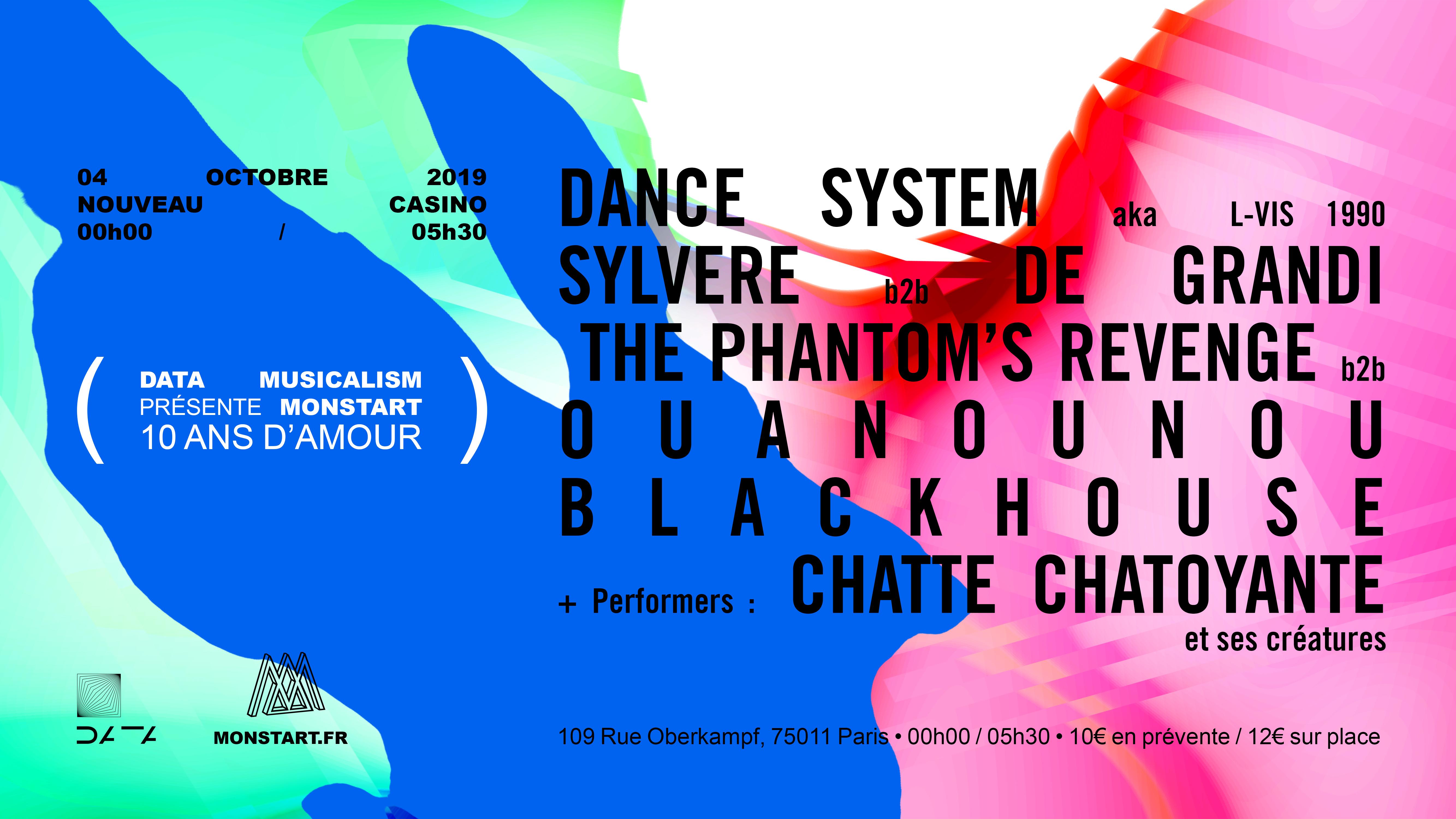 Monstart 10 ans d'Amour - Nouveau Casino, Paris w/ Dance System