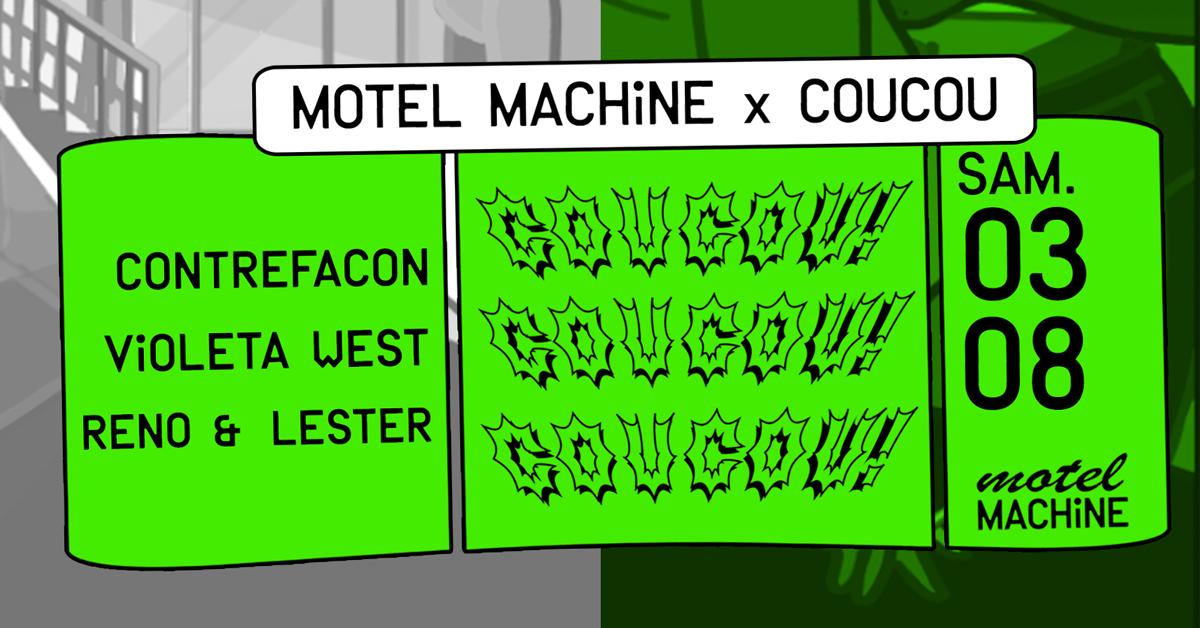 Motel Machine x Coucou : Contrefaçon, Violeta West