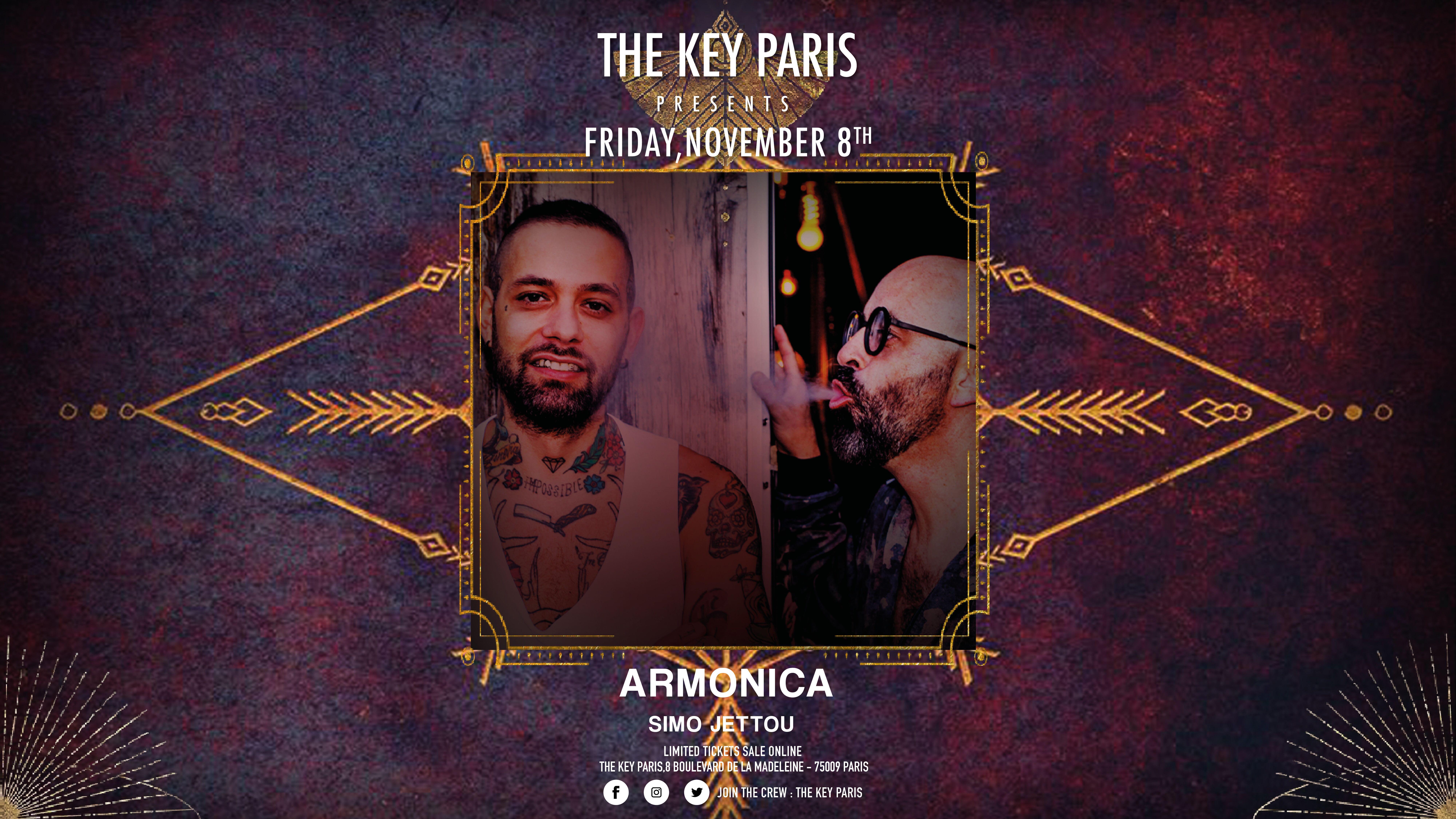 The Key Paris presents Armonica & Simo Jettou