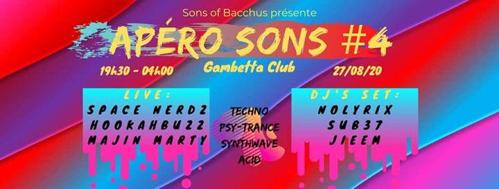 Apéro Sons #4 : Space Nerdz, Hookahbuzz, Majin Marty & Dj's Set