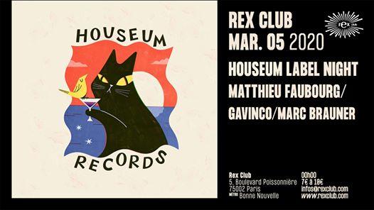 Houseum Label Night: Matthieu Faubourg, Gavinco, Marc Braumer