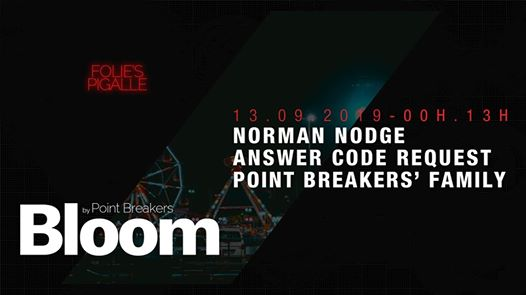 BLOOM w/ Norman Nodge & Answer Code Request