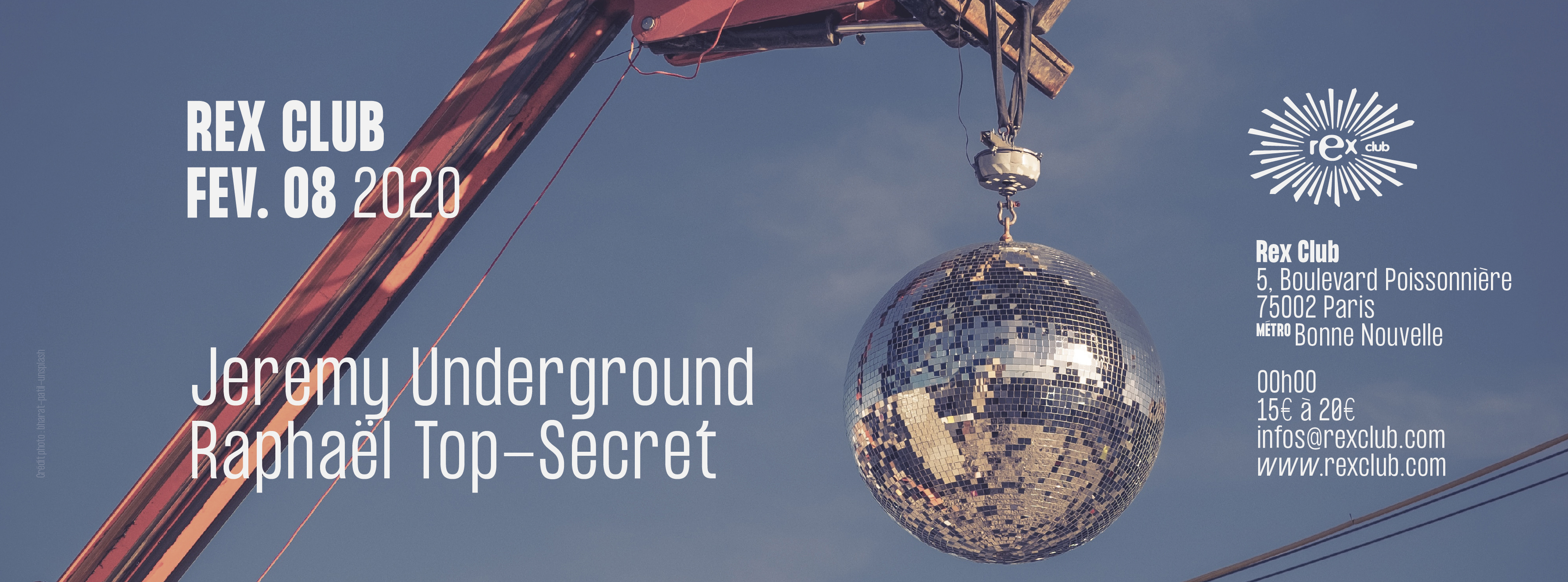 Rex Club Présente: Jeremy Underground & Raphaël Top-Secret