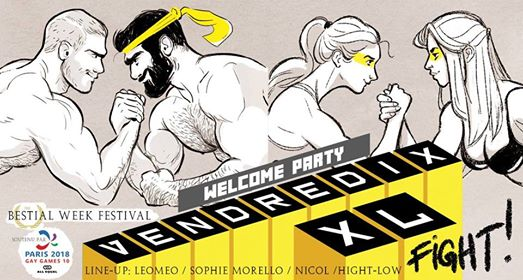 VendrediXXL FIGHT - GAY GAMES - Welcome Party