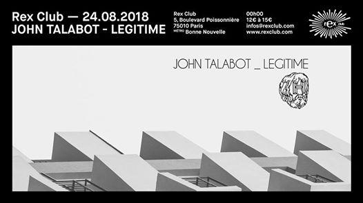 Rex Club Présente John Talabot & Legitime