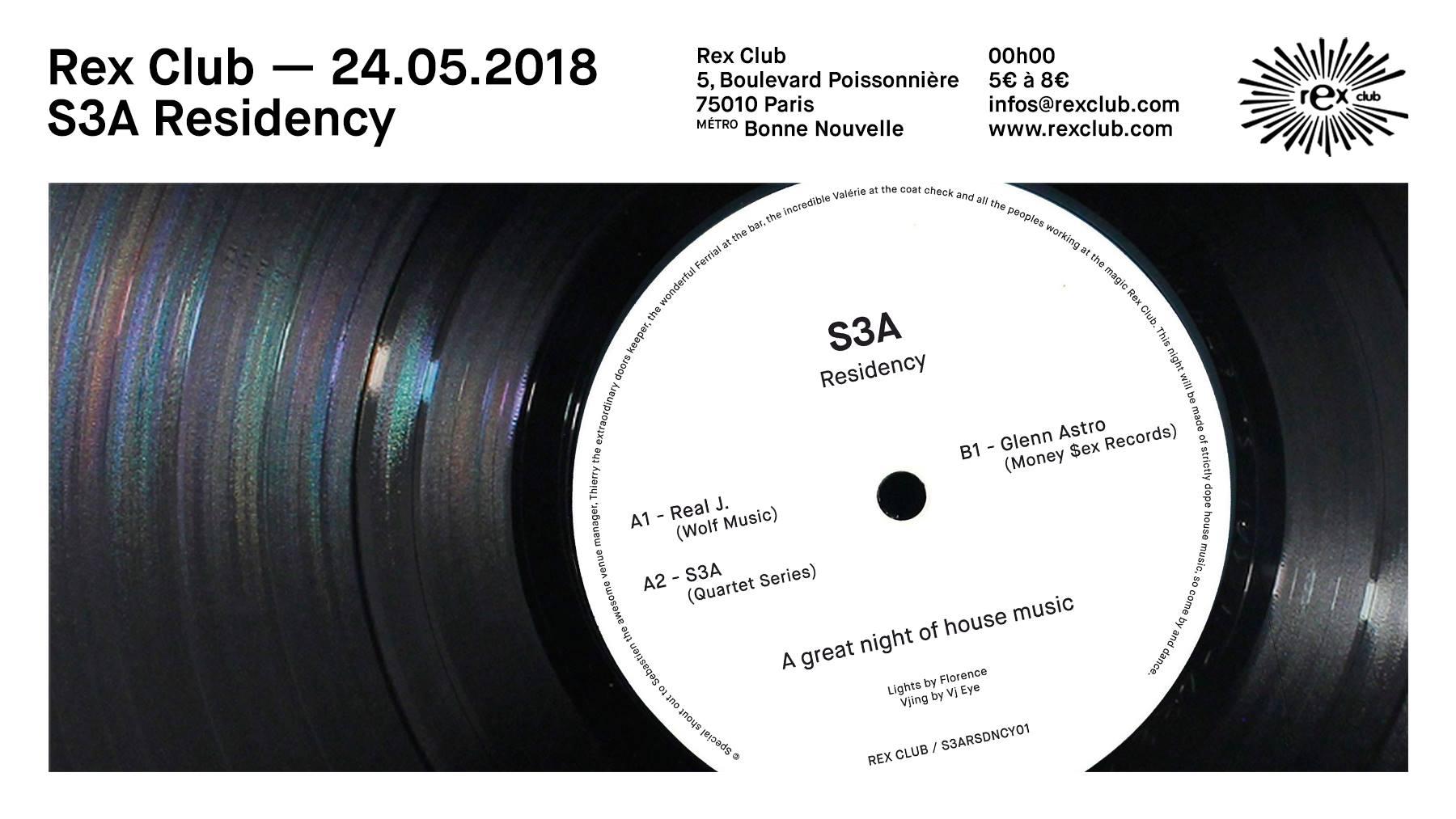 S3A Residency: Glenn Astro, Real J., S3A