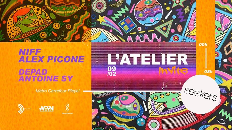 L'Atelier #3 :Seekers w/ Niff & Alex Picone, Depad & Antoine Sy