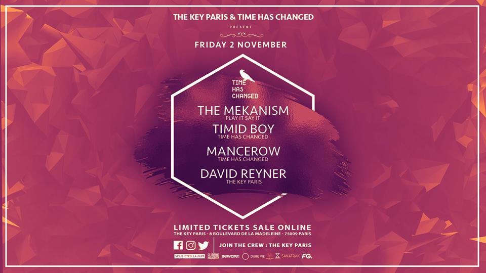 The Key & Time Has Changed : The Mekanism, Timid Boy, Mancerow