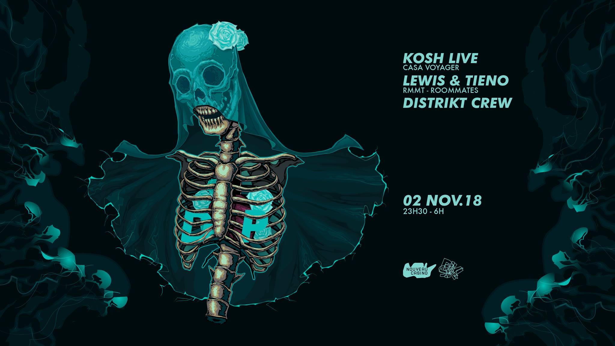 Distrikt : El día de los muertos w/ KOSH live, RMMT, Distrikt