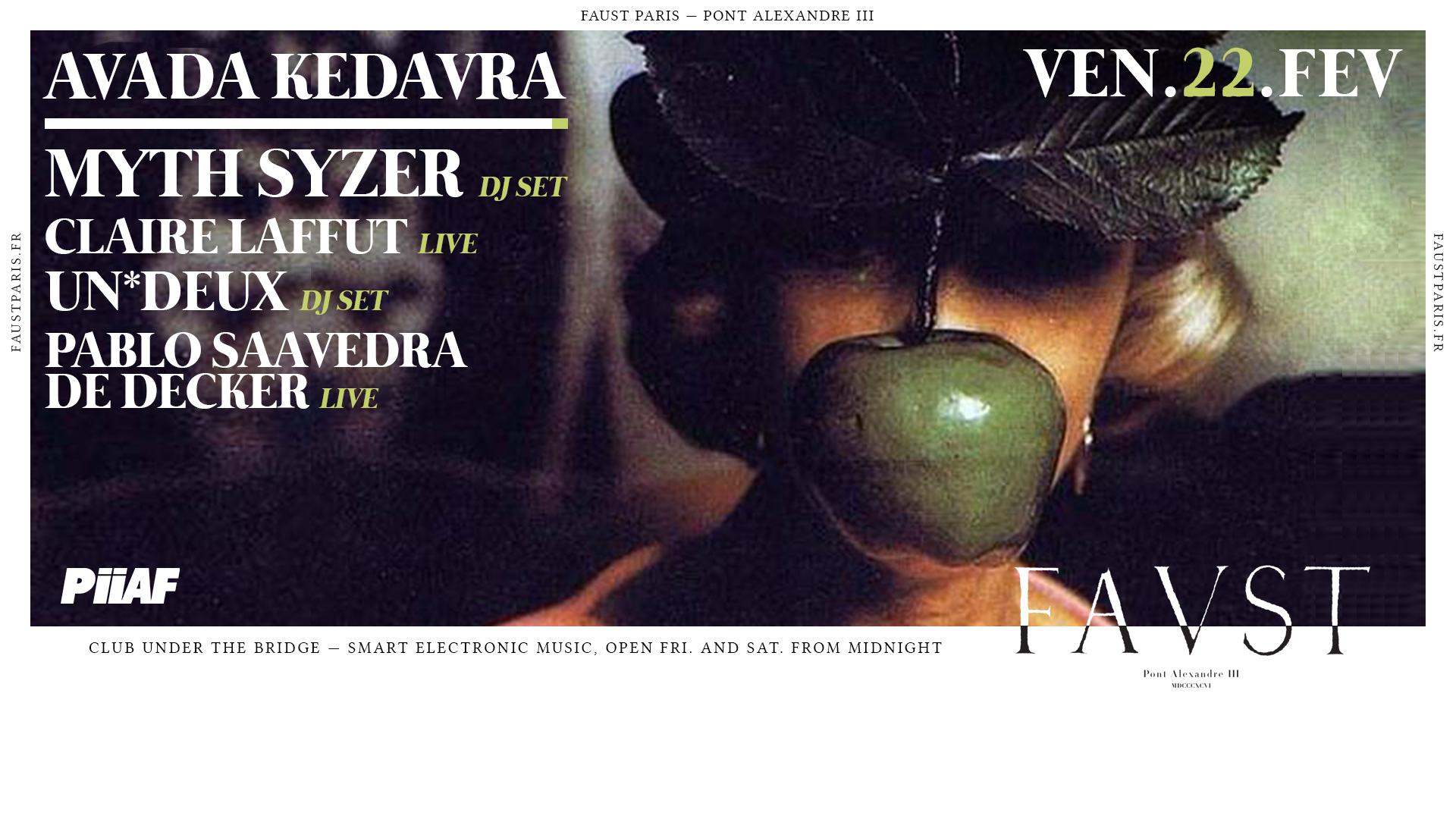 PiiAF: Myth Syzer, Claire Laffut (live), Pablo Saavedra, Un*Deux