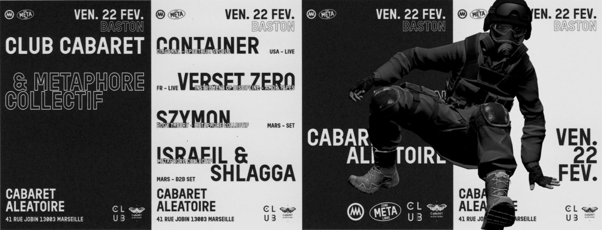 Club Cabaret x Metaphore Collectif : CONTAINER (live) +...