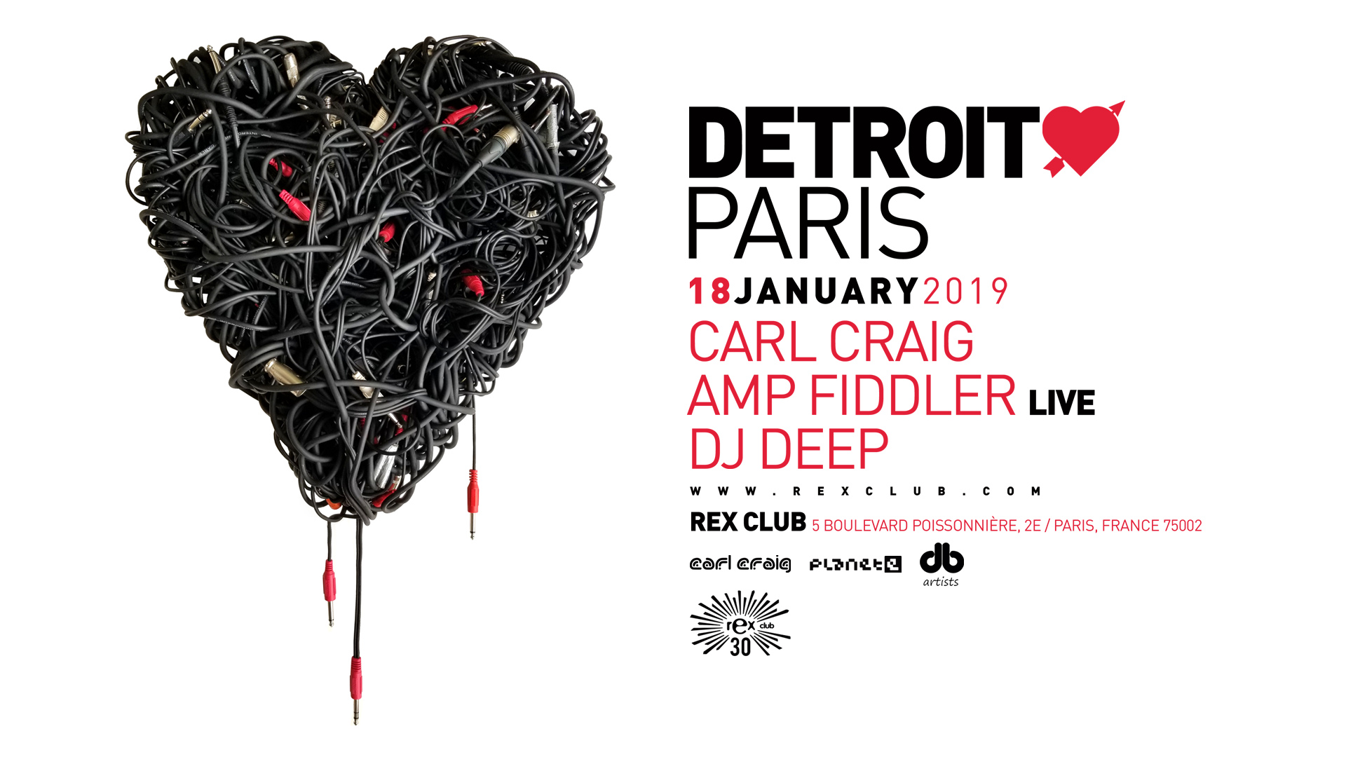 Detroit Love Paris: Carl Craig, Amp Fiddler Live, DJ Deep