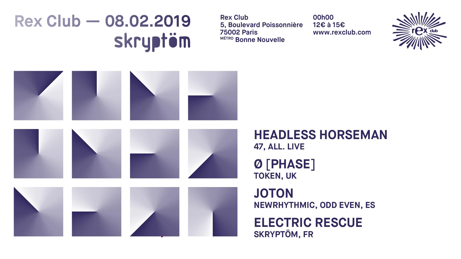 Skryptom: Headless Horseman, Ø [PHASE], Joton, Electric Rescue