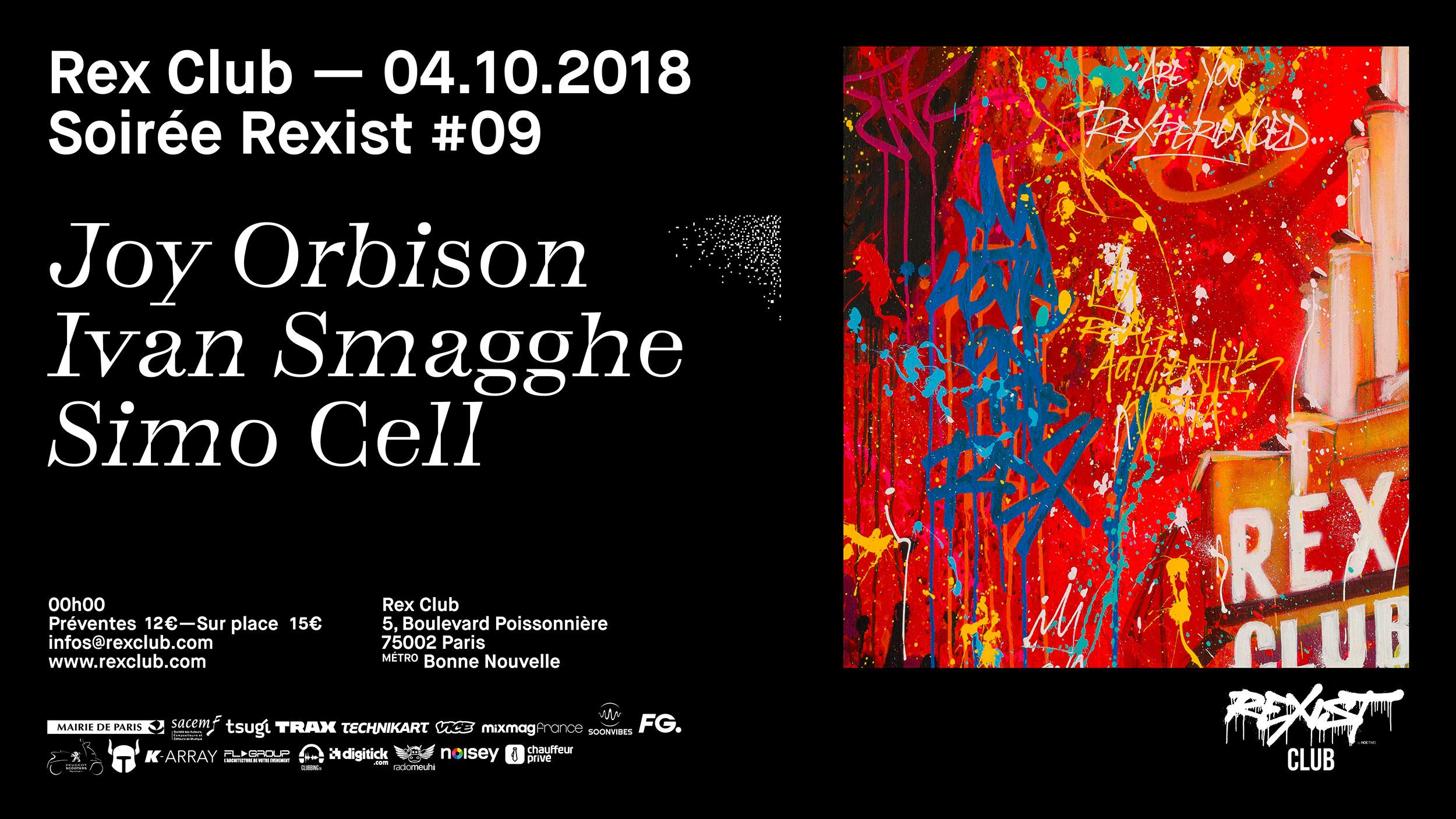 Rexist 9: Joy Orbison, Ivan Smagghe, Simo Cell