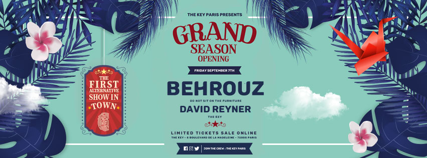 Grand Season Opening with Behrouz & David Reyner