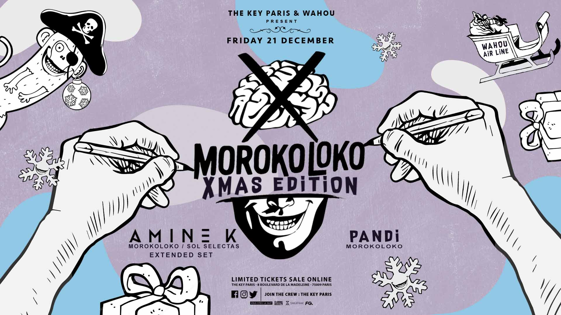 The Key Paris x Wahou Present: Moroko Loko Xmas Edition 21/12/18