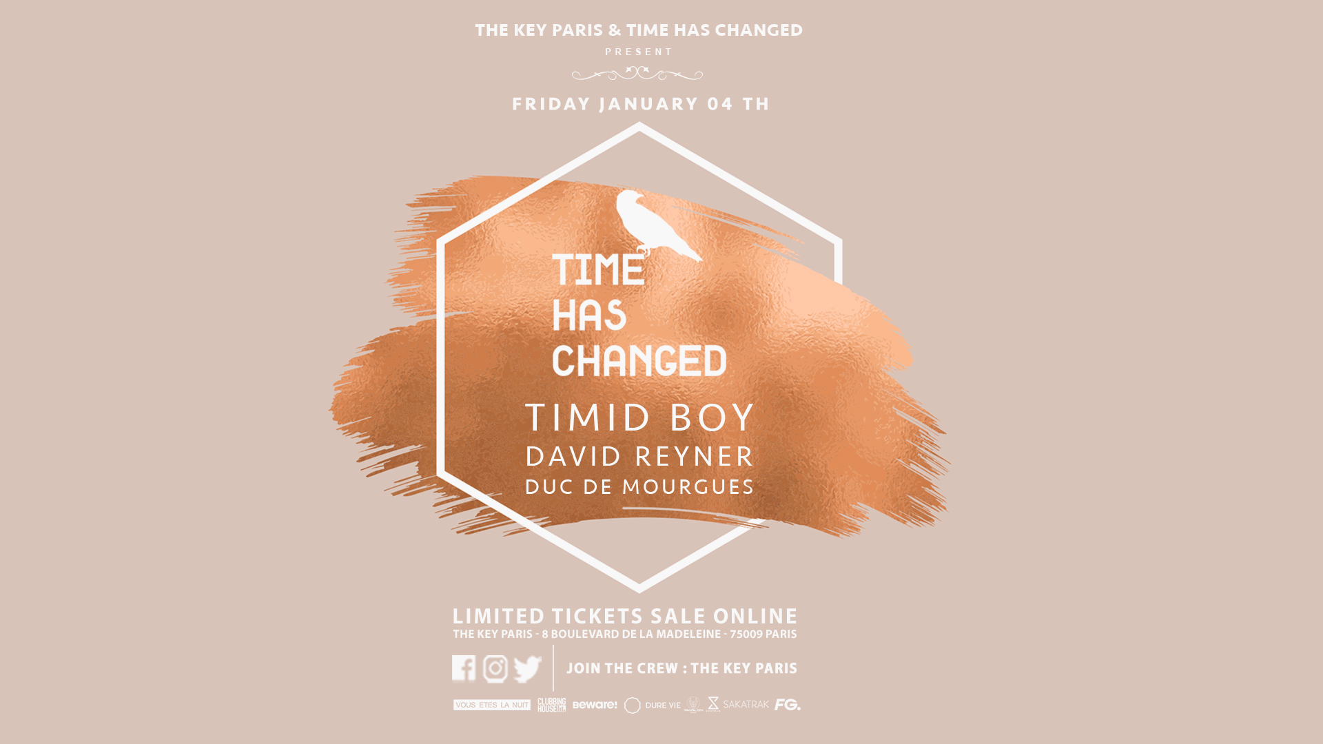 The Key Paris presents : Time Has Changed