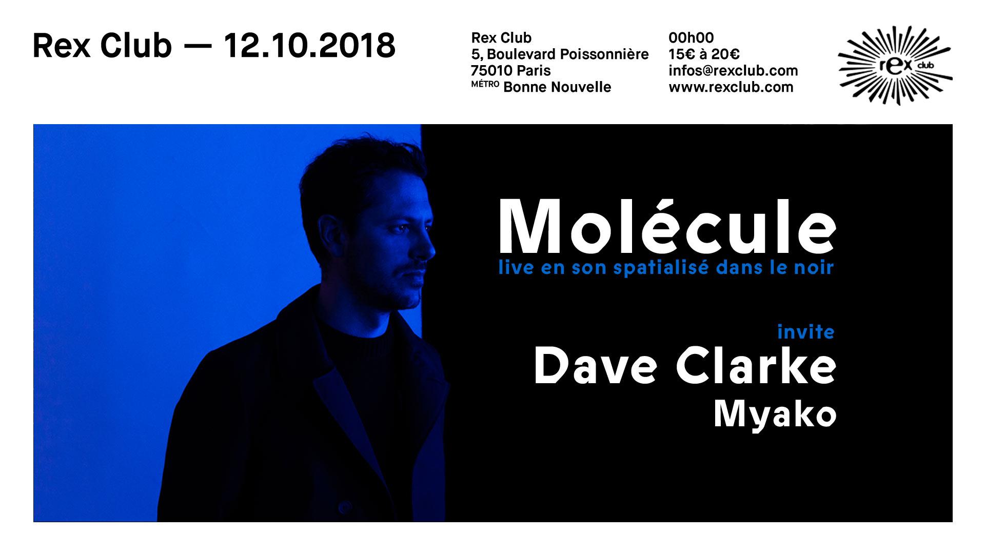 Molécule live en son spatialisé dans le noir avec Dave Clarke & Myako