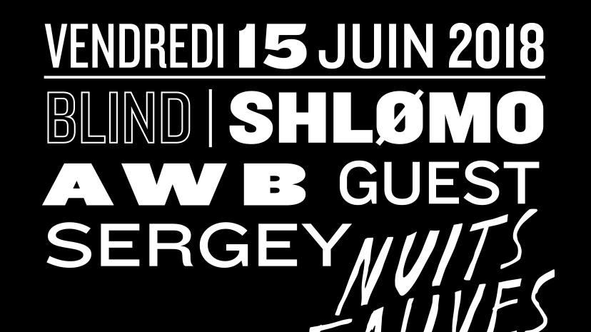 Blind w/ Antigone, Shlømo & more