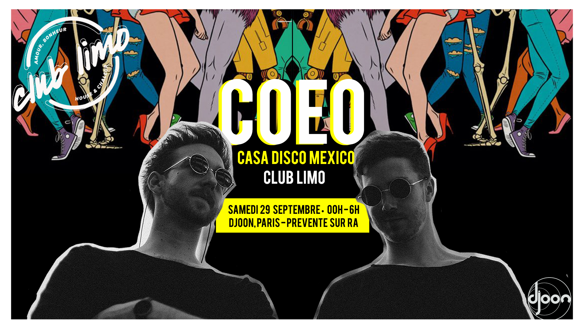 Club limo invite COEO & CASA DISCO