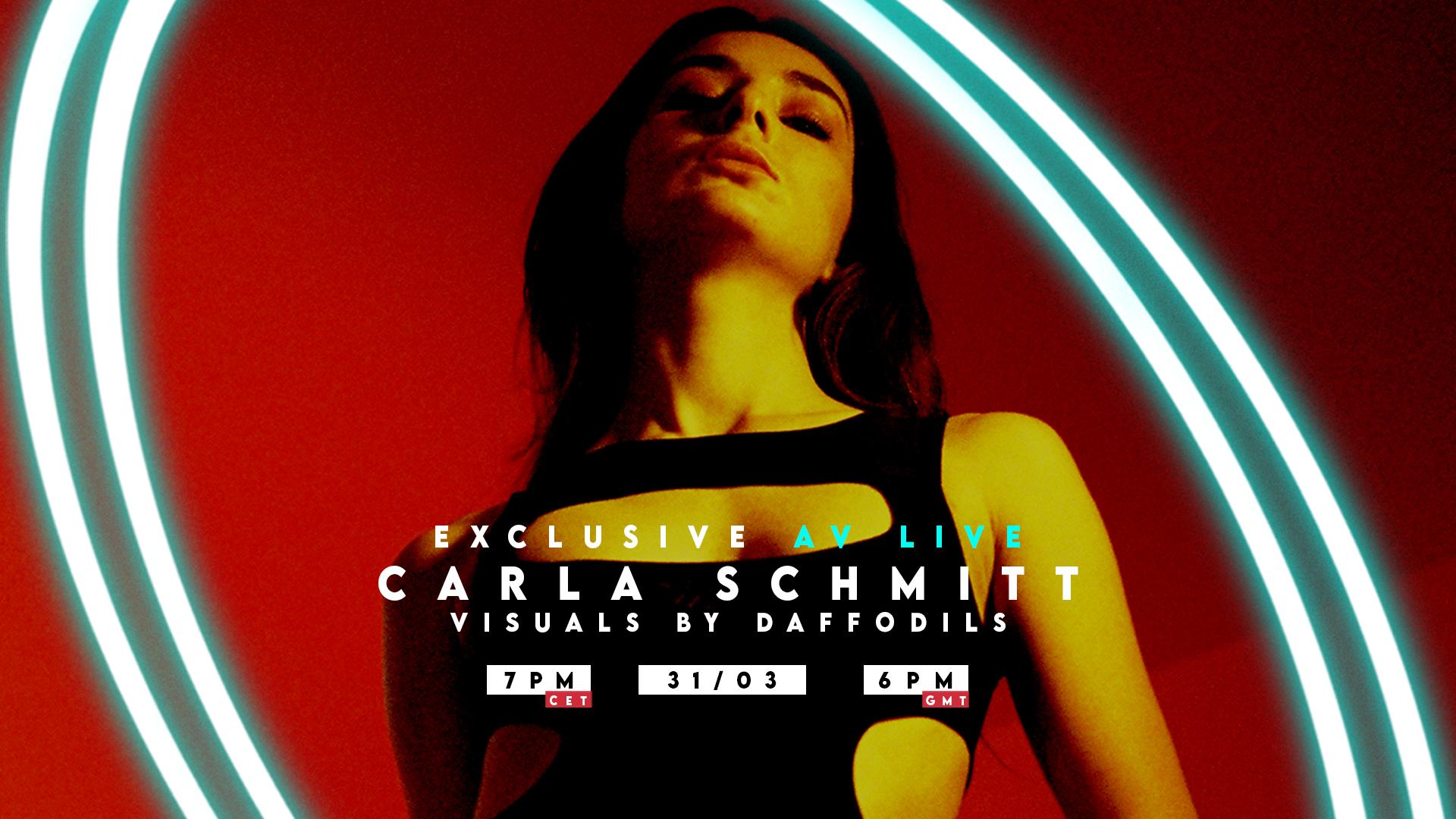 Carla Schmitt exclusive AV Live with Daffodils by La Quarantaine