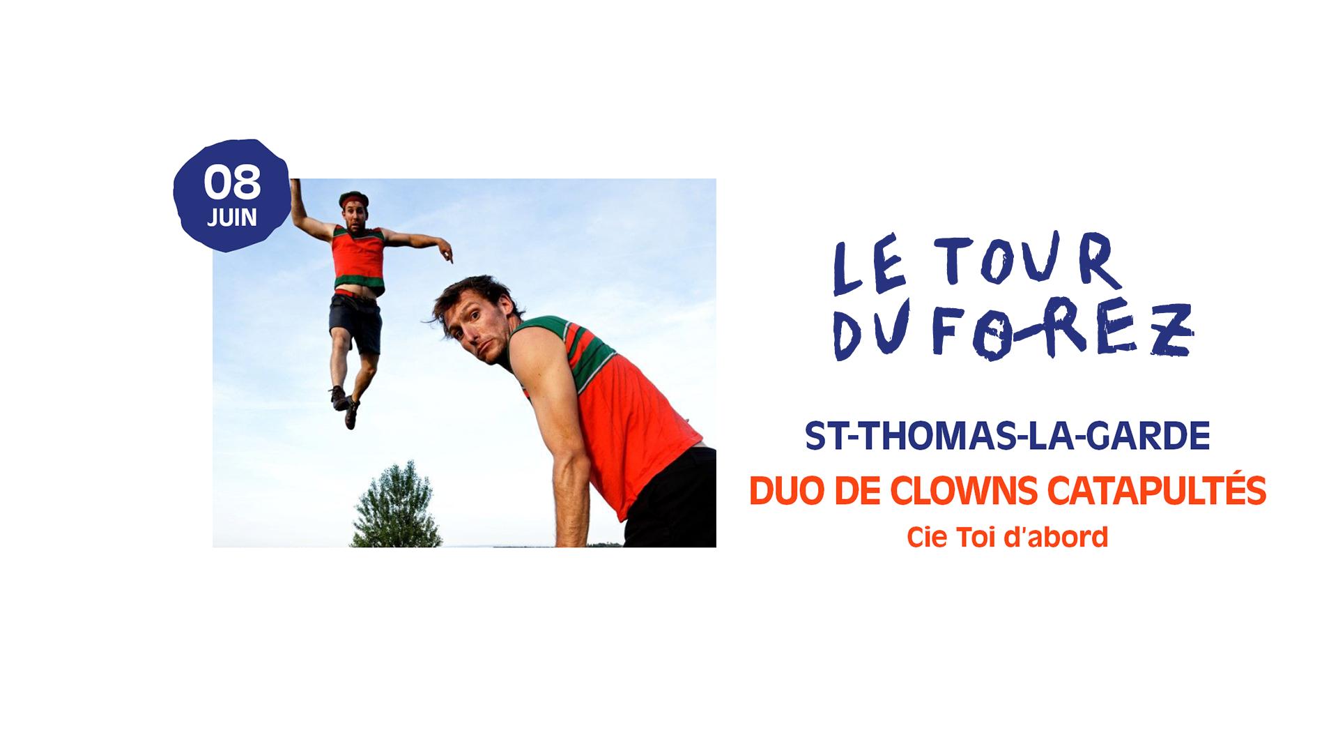 Duo de clowns catapultés