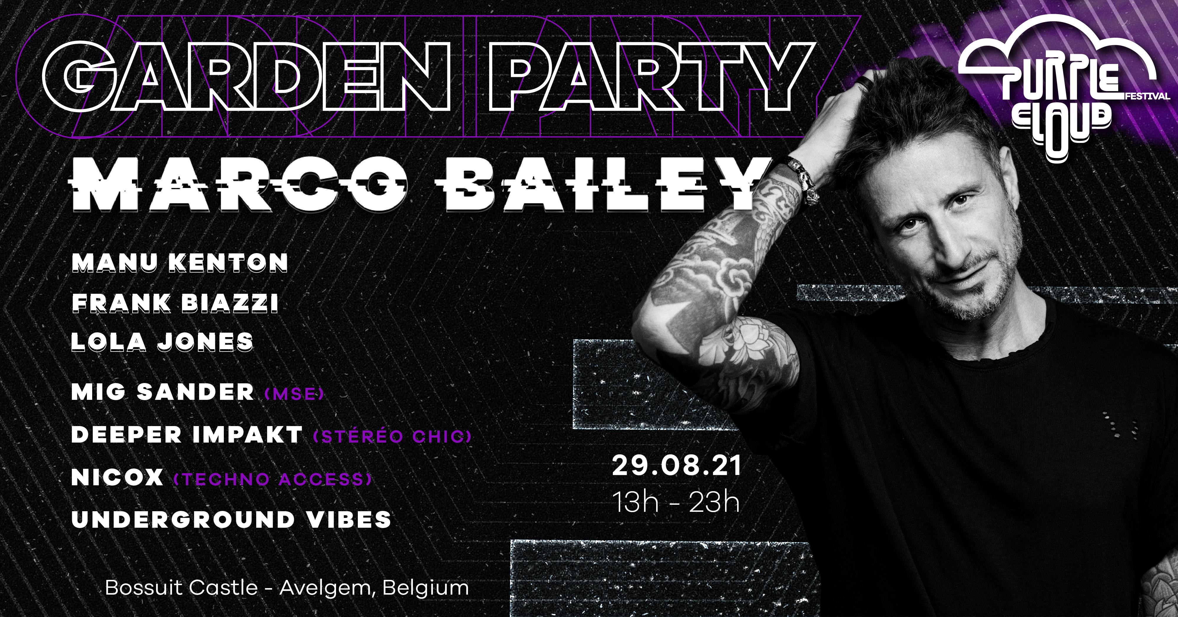Garden Party | Purple Cloud Festival invite Marco Bailey & more