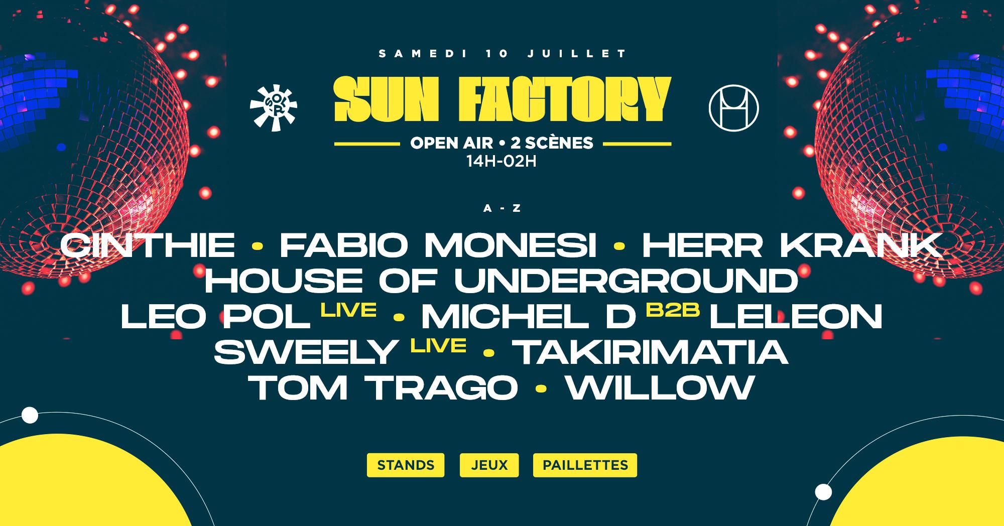 SUN FACTORY : Tom Trago, Cinthie & more..