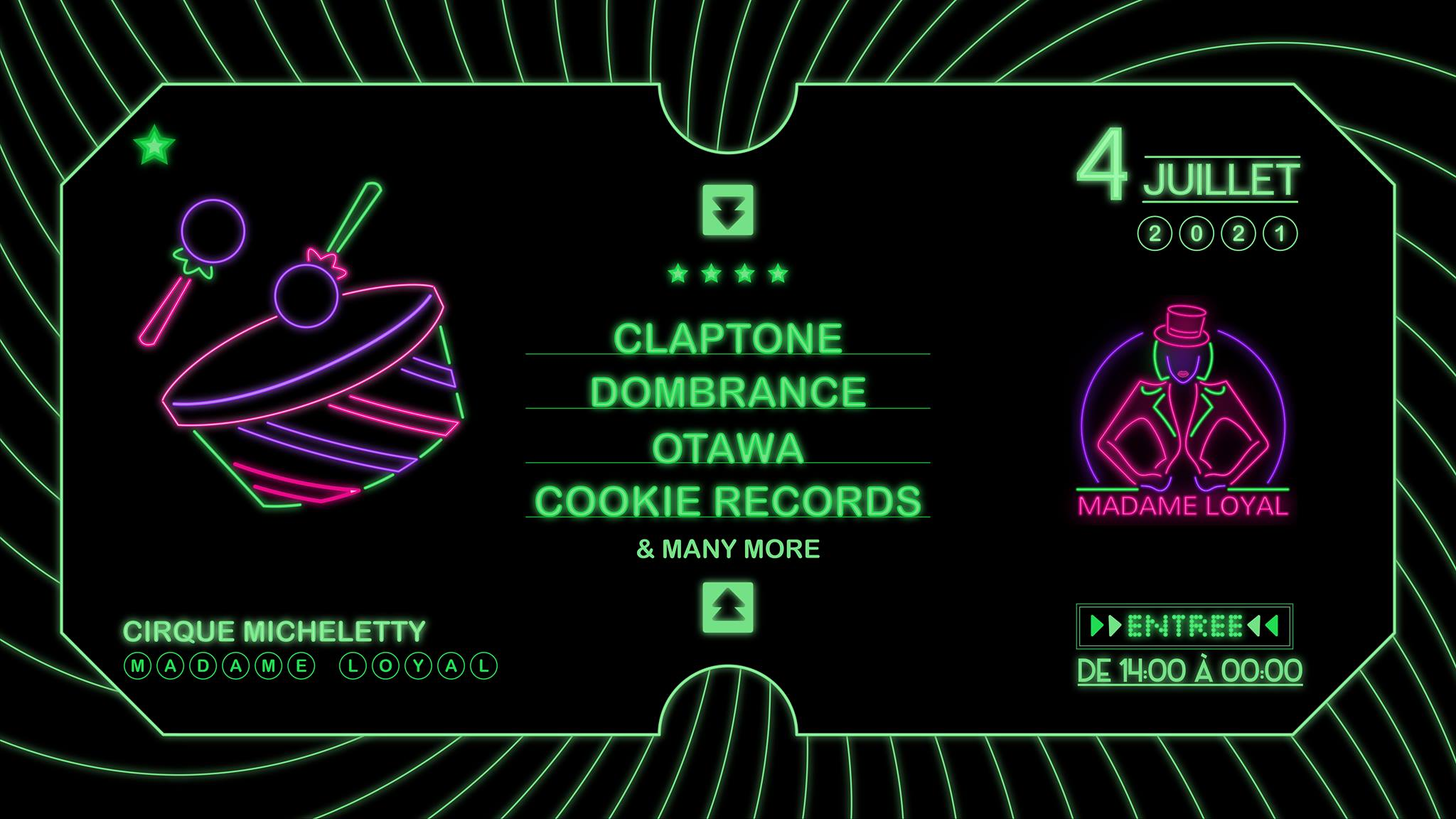 Madame Loyal : Claptone, Dombrance, Cookie Records, O'tawa & more