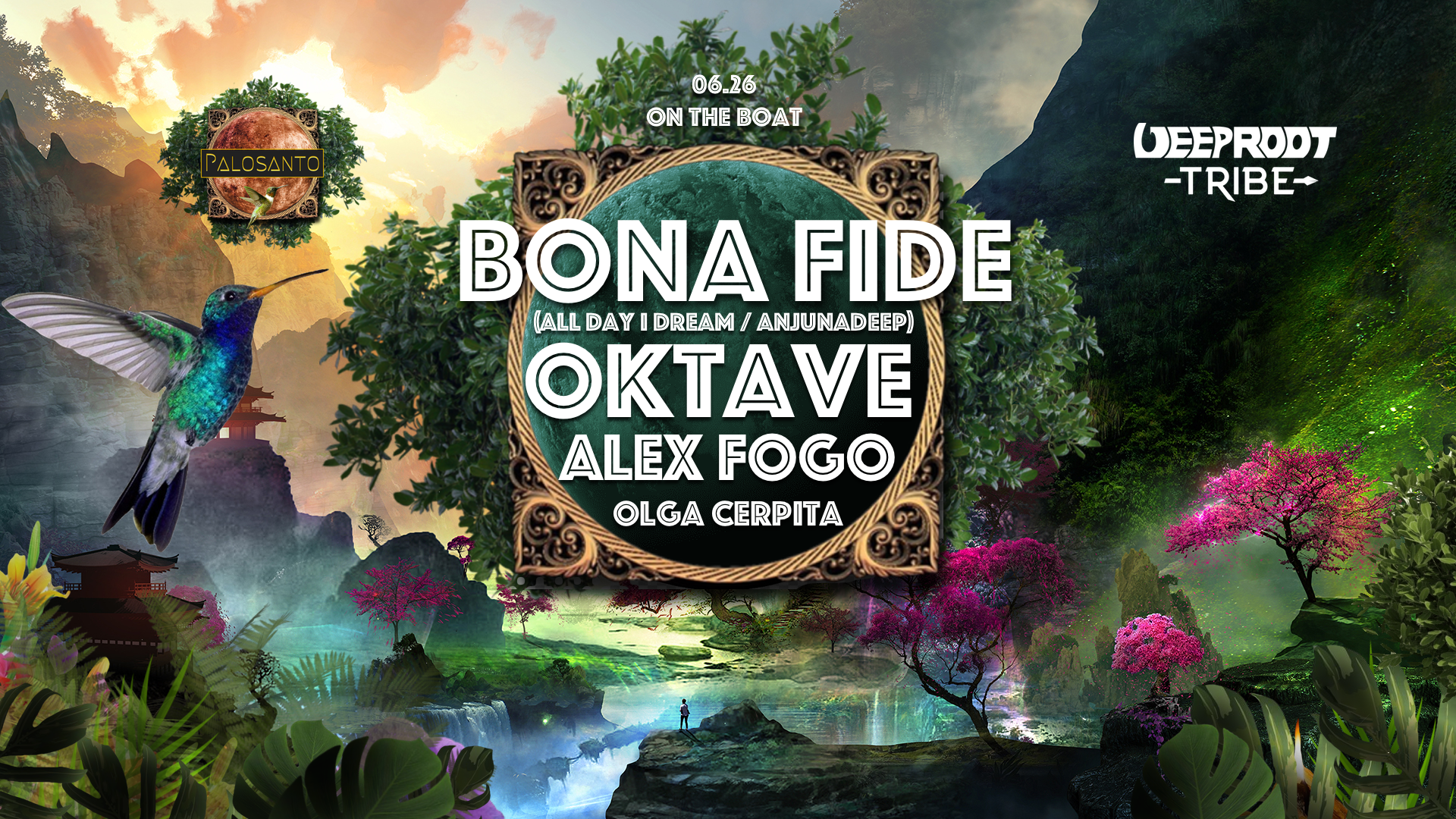 🛥️🌿 On The Boat:  Bona Fide, Oktave, Alex Fogo, Olga C 🛥️🌿