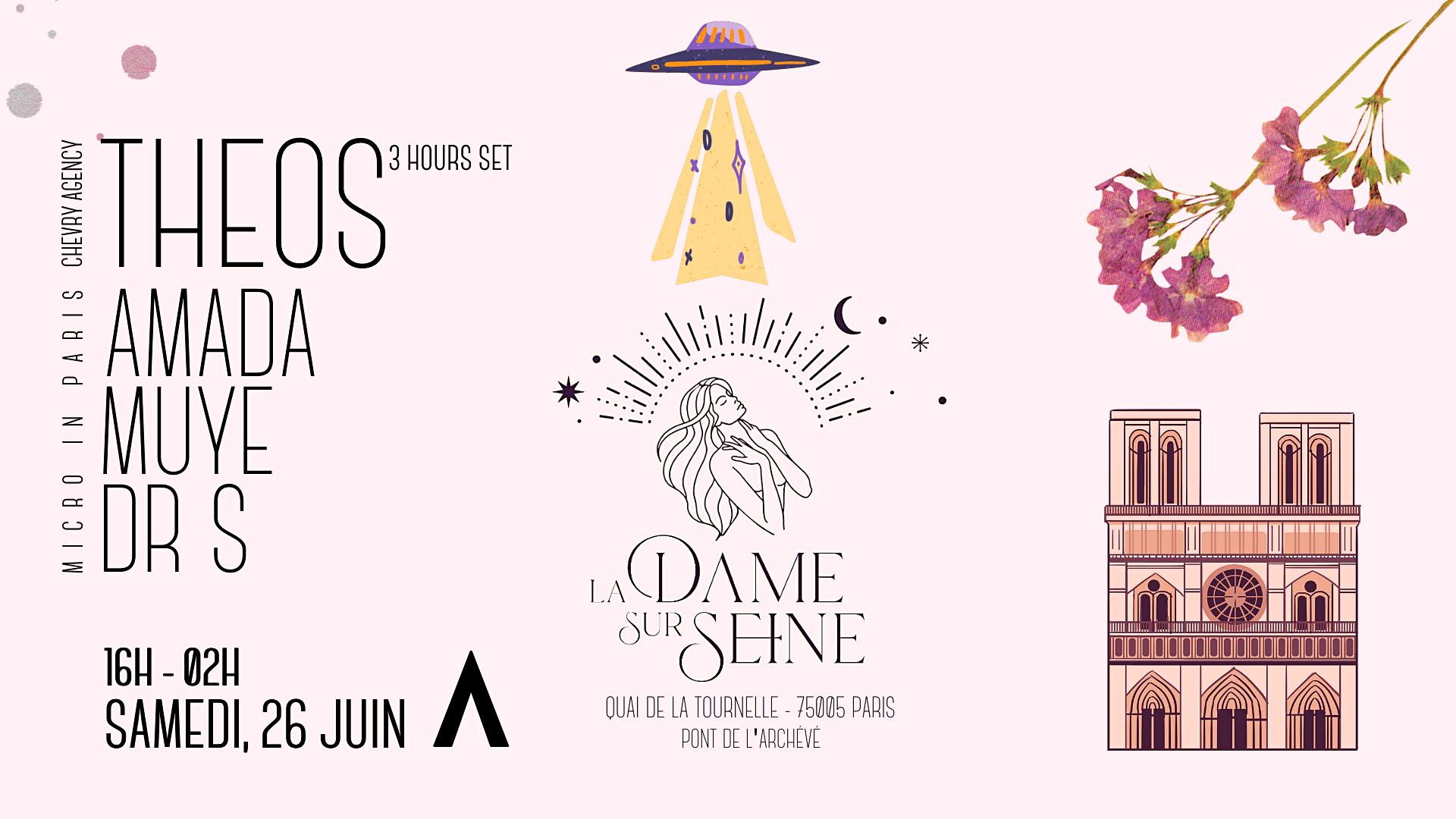 La Dame Sur Seine Invites THEOS w/ Micro in Paris