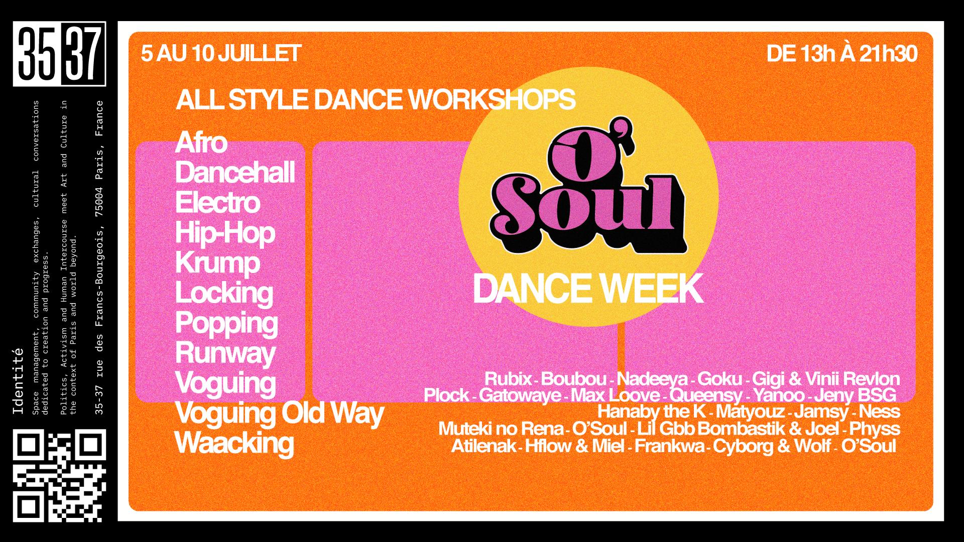 O'Soul Dance Week