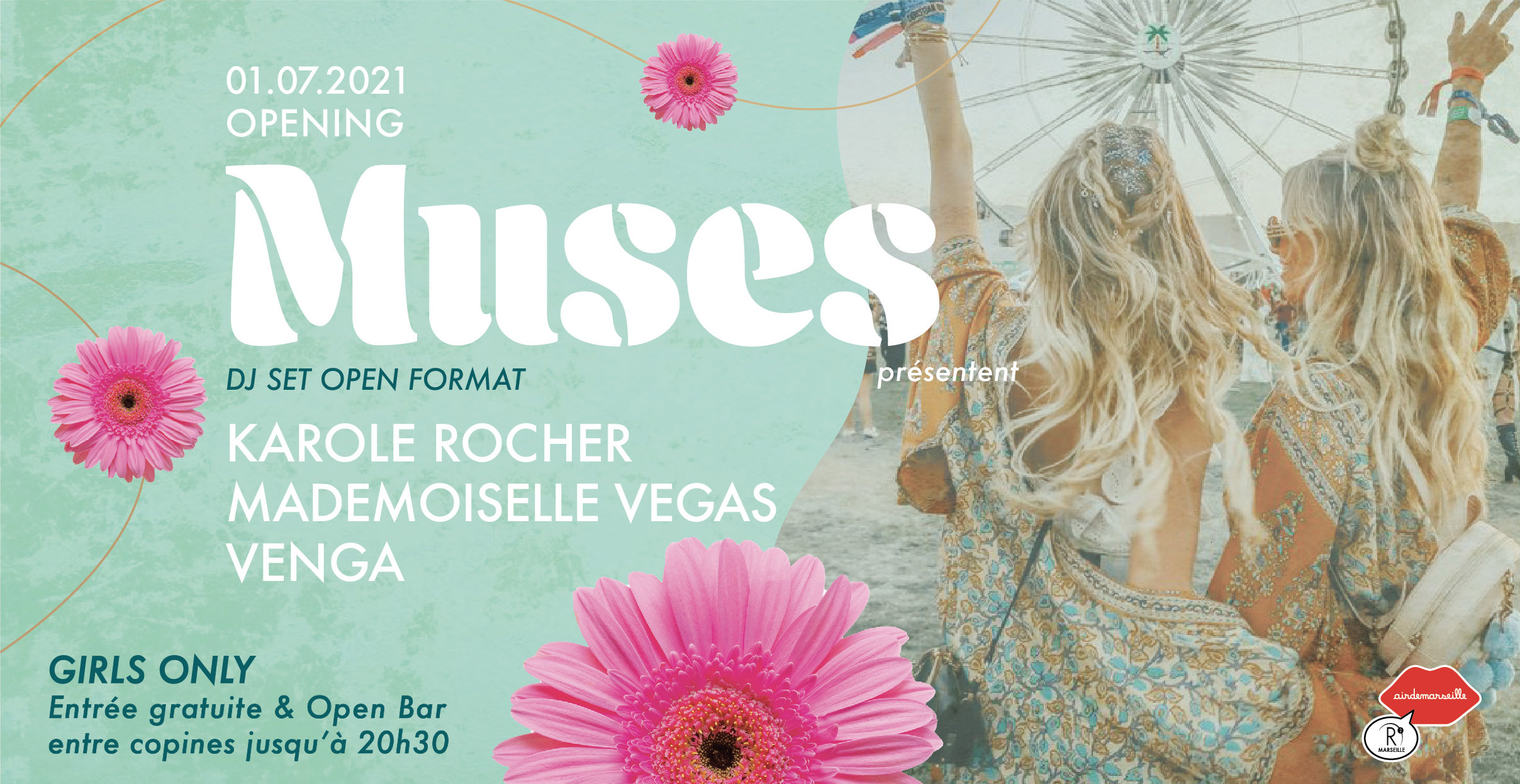 R2 ROOFTOP -MUSES OPENING -KAROLE ROCHER-MADEMOISELLE VEGAS