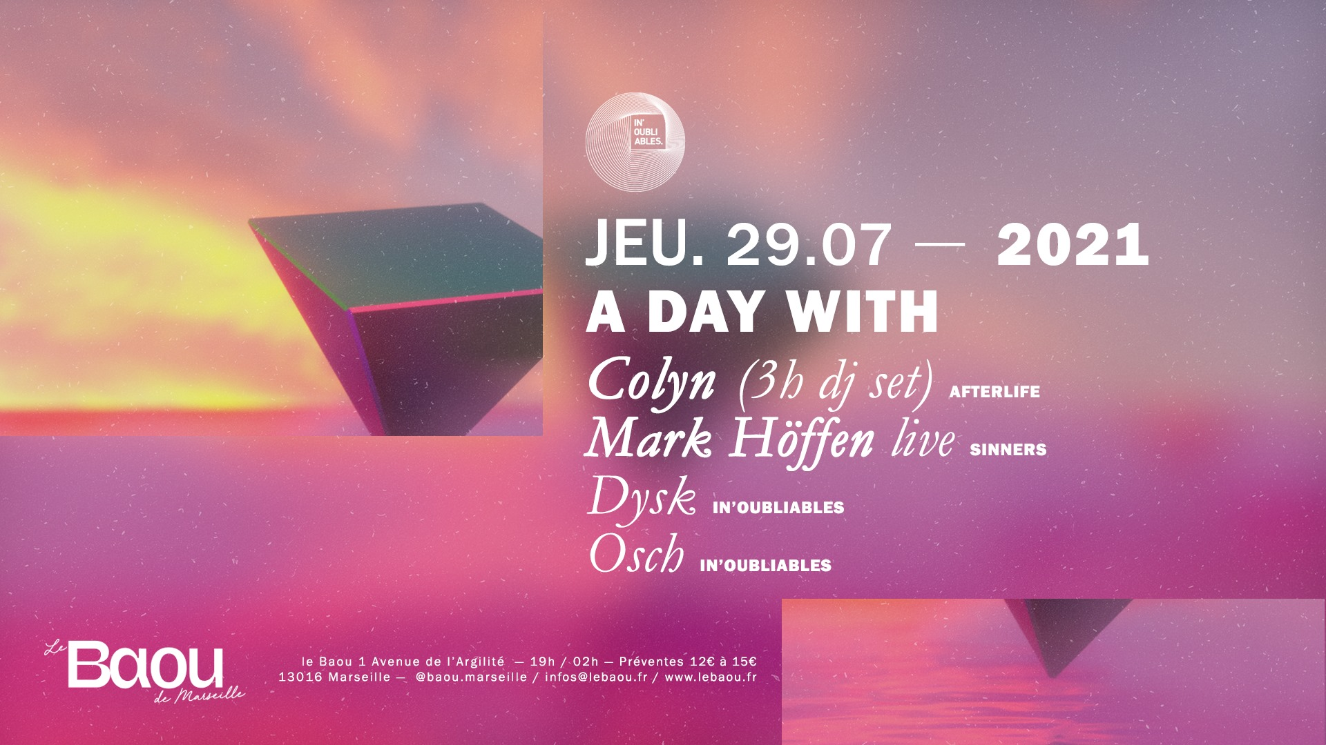 A DAY WITH - Colyn extended set, Mark Höffen Live and guests