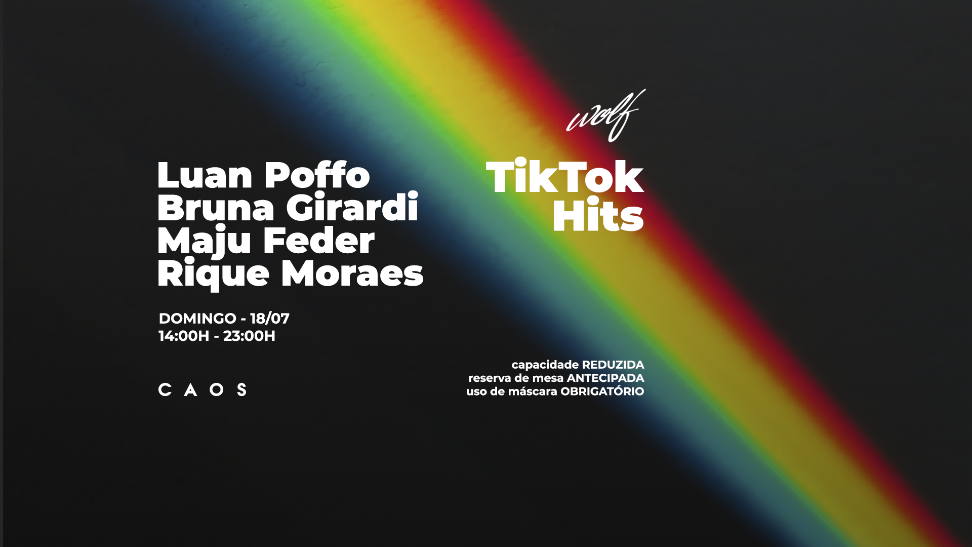 Wolf TikTok Hits com Luan Poffo