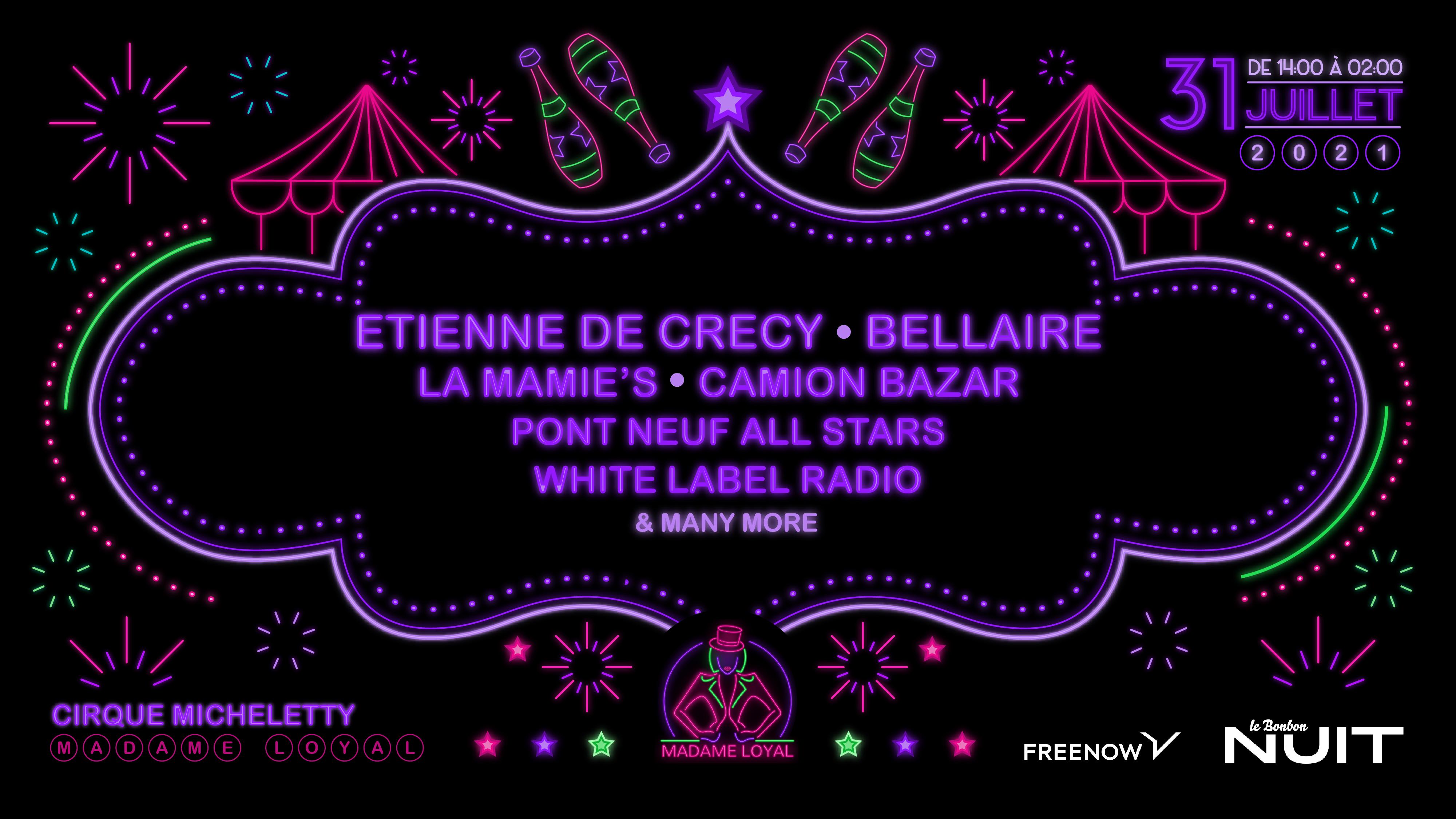 Madame Loyal : Etienne de Crecy, La Mamie's, Bellaire . .