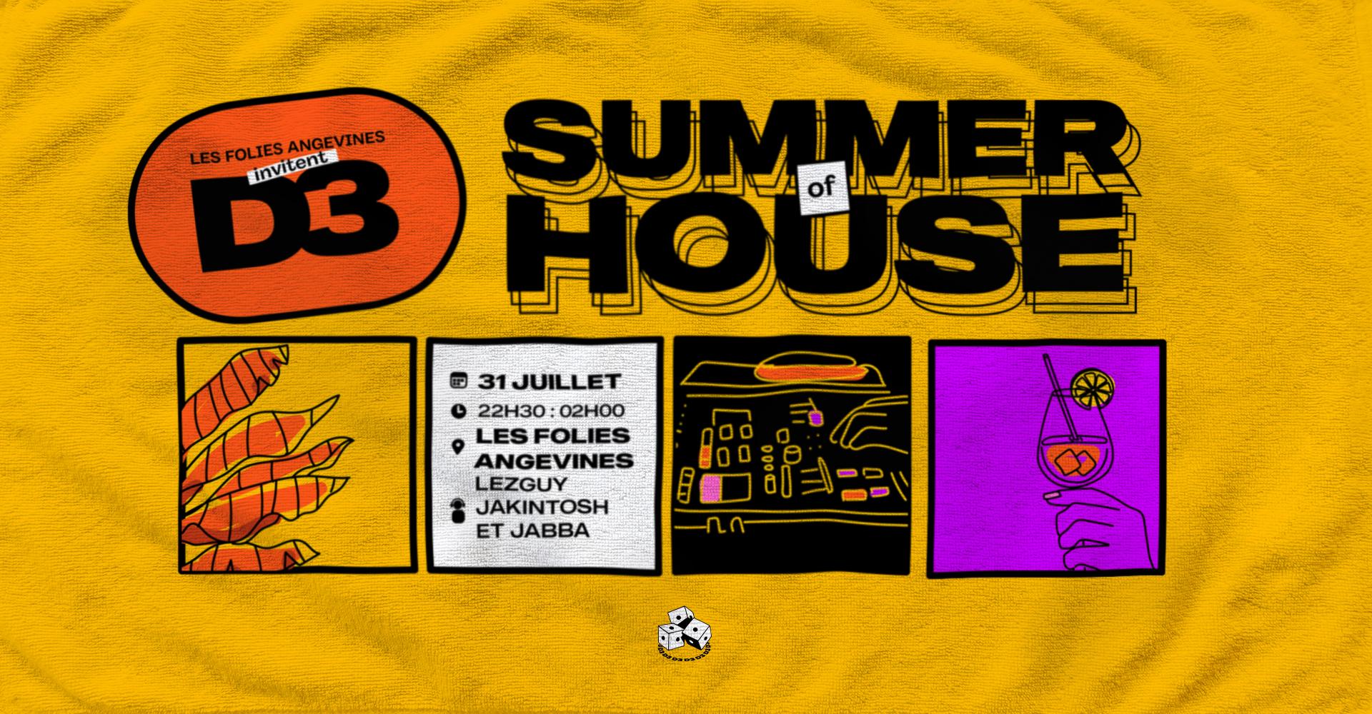 Summer of House : Les Folies invitent D3