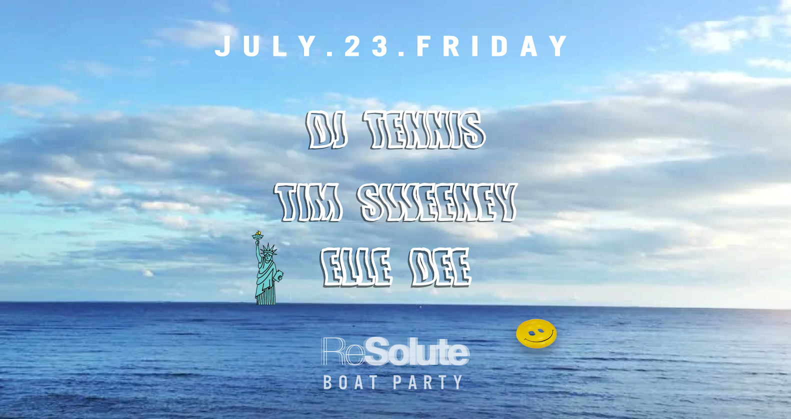ReSolute Boat Party w DJ Tennis