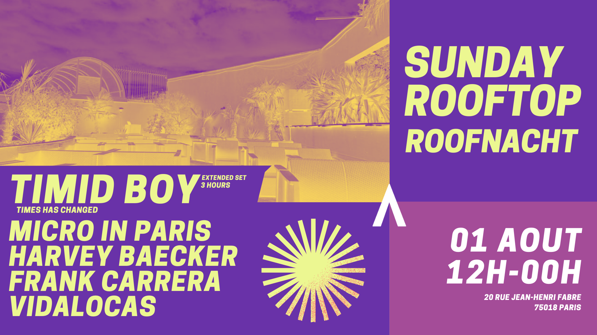Sunday Rooftop RoofNacht : Micro in Paris w/ Timid Boy &...