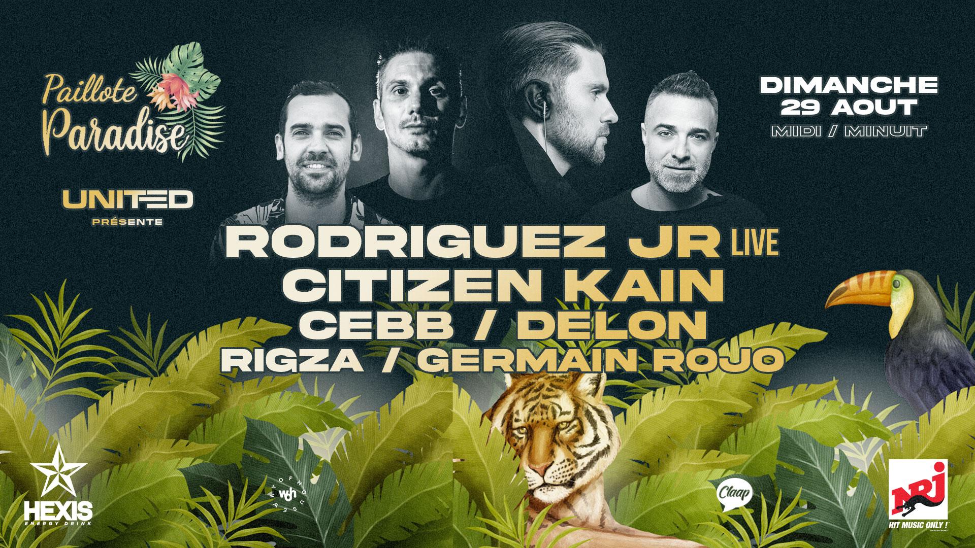 THE POOL OPEN AIR : RODRIGUEZ JR live, CITIZEN KAIN, CEBB, DELON 29/08